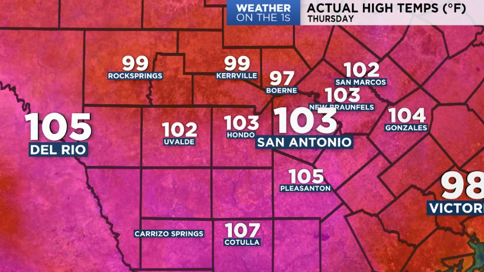 Temps Amp Almanacs San Antonio Spectrum News